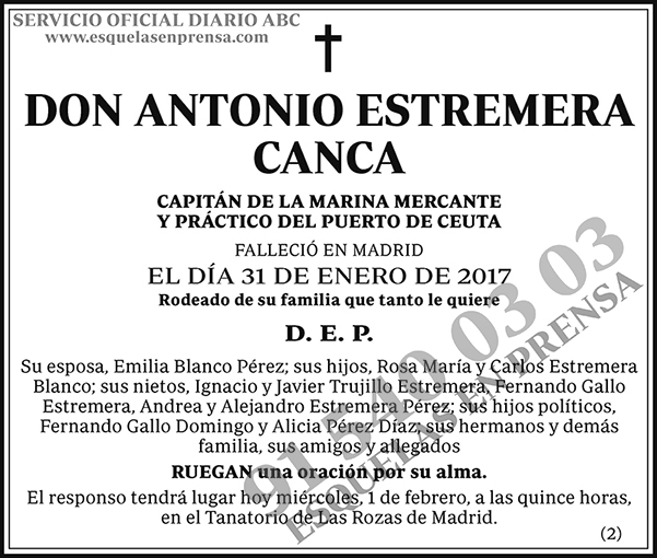 Antonio Estremera Canca